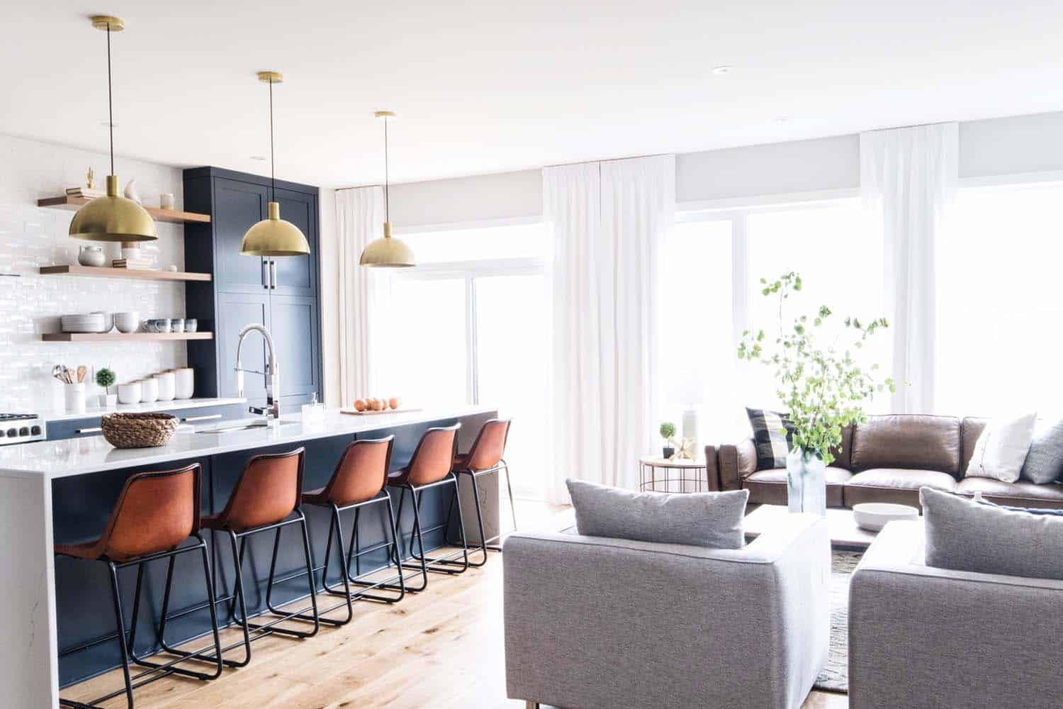 Light filled contemporary model home in ottawa offers for Inviting interiors