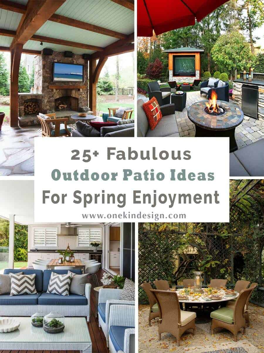 25 Fabulous Home Offices That Unleash Mediterranean Magic: 25+ Fabulous Outdoor Patio Ideas To Get Ready For Spring