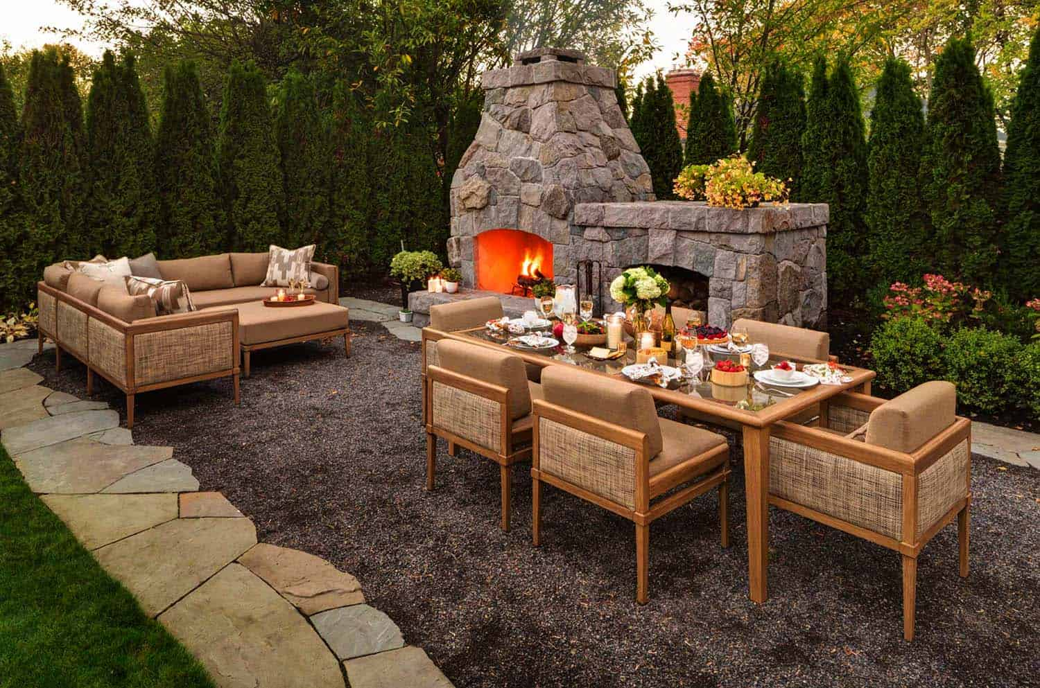 25 fabulous outdoor patio ideas to get ready for spring enjoyment. Black Bedroom Furniture Sets. Home Design Ideas