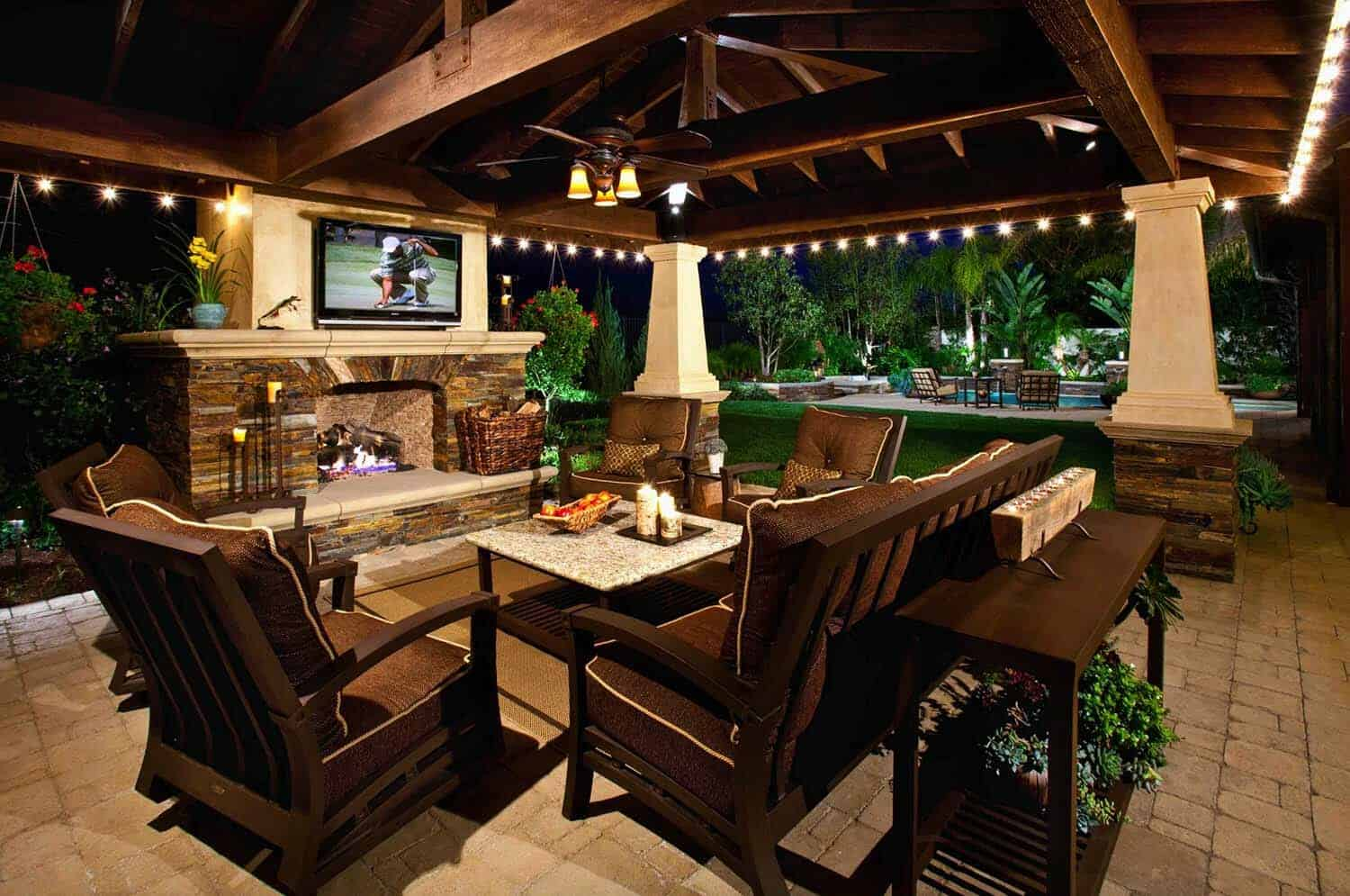 25 fabulous outdoor patio ideas to get ready for spring for Outdoor patio fireplace ideas