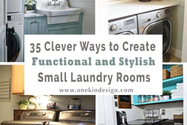 featured posts image for 35 Clever ways to create functional and stylish small laundry rooms