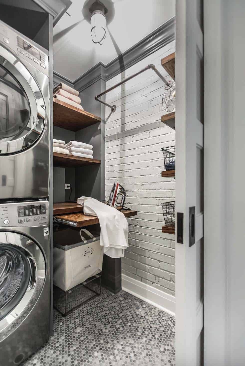 Functional-Stylish Small Laundry Rooms-01-1 Kindesign