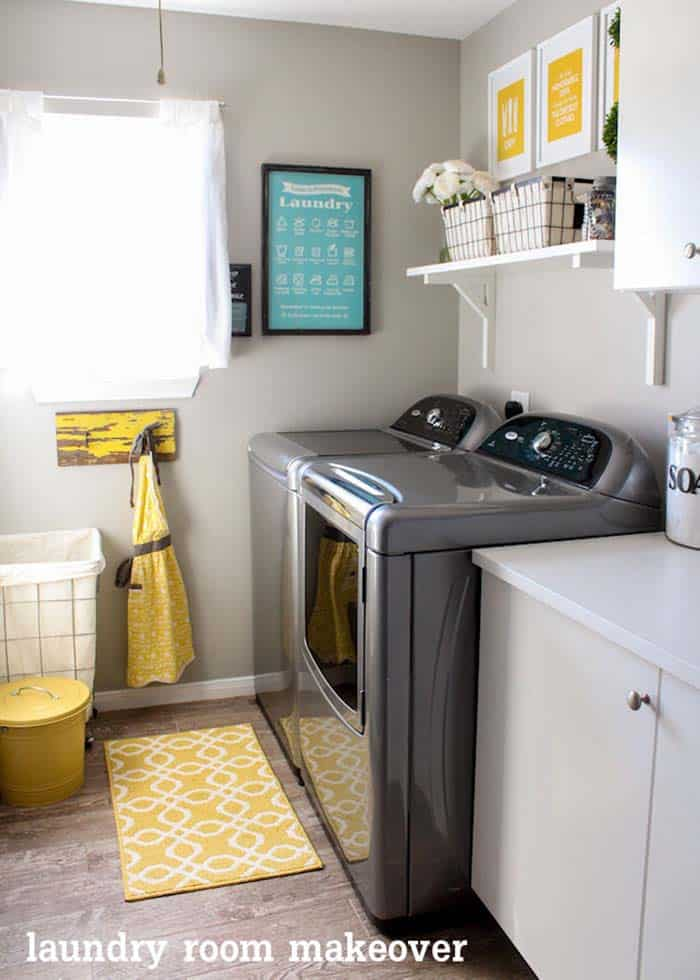 Functional-Stylish Small Laundry Rooms-23-1 Kindesign