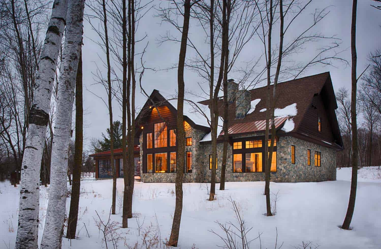 Lodge-Style Lake House-Nor-Son Builders-23-1 Kindesign