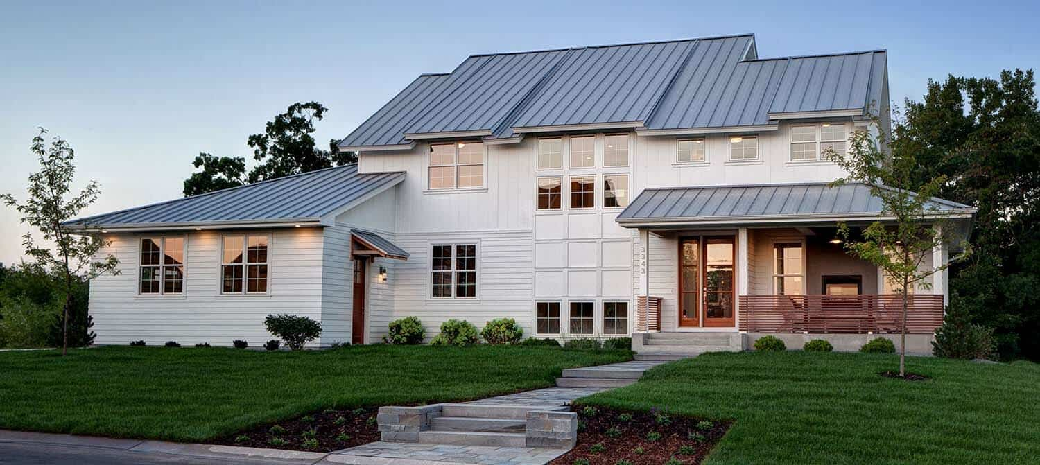 Dream home on prior lake when contemporary meets farm house for New farmhouse style homes