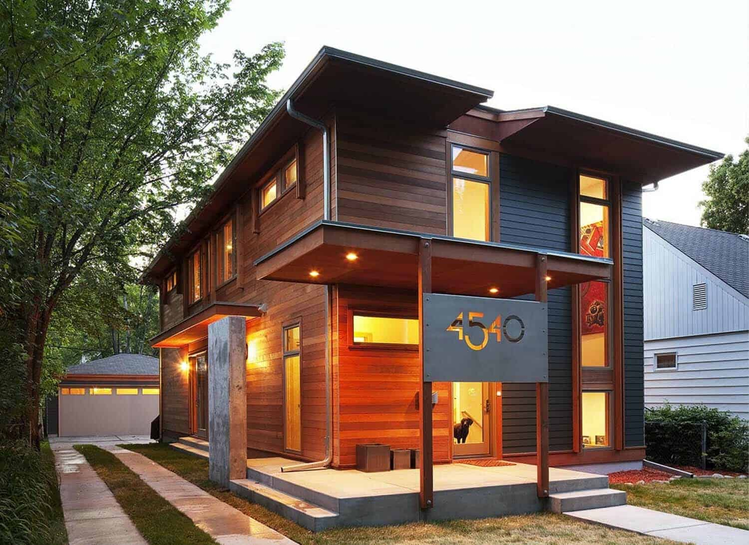 Beautiful modern dwelling designed for sustainable living for Leed cabins