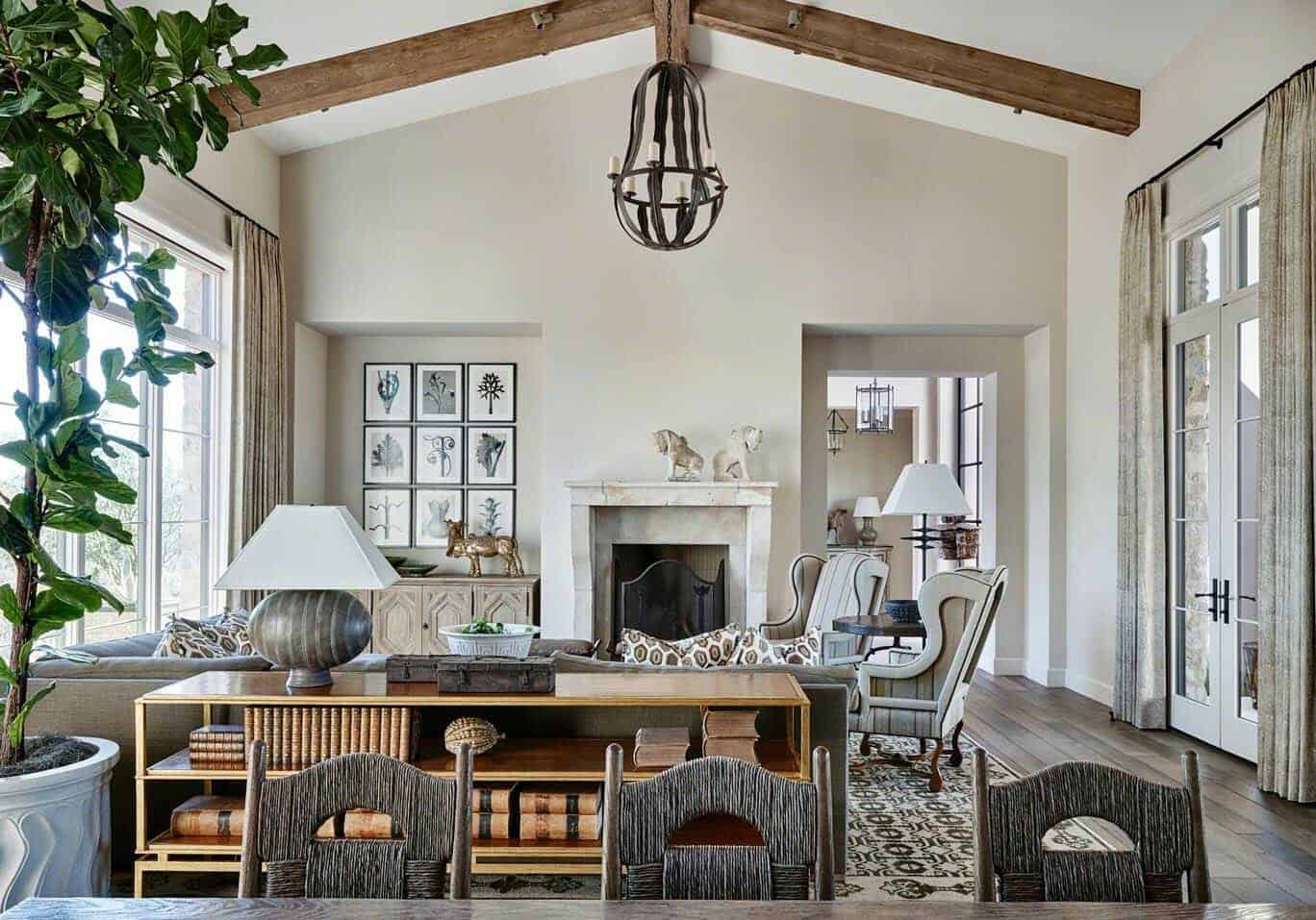 Rustic Eclectic House-David Michael Miller-01-1 Kindesign
