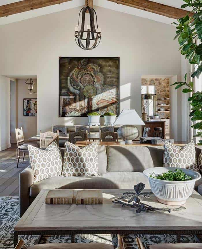 Rustic Eclectic House-David Michael Miller-02-1 Kindesign