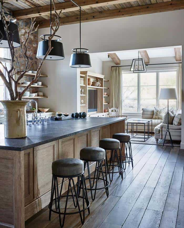 Rustic Eclectic House-David Michael Miller-05-1 Kindesign