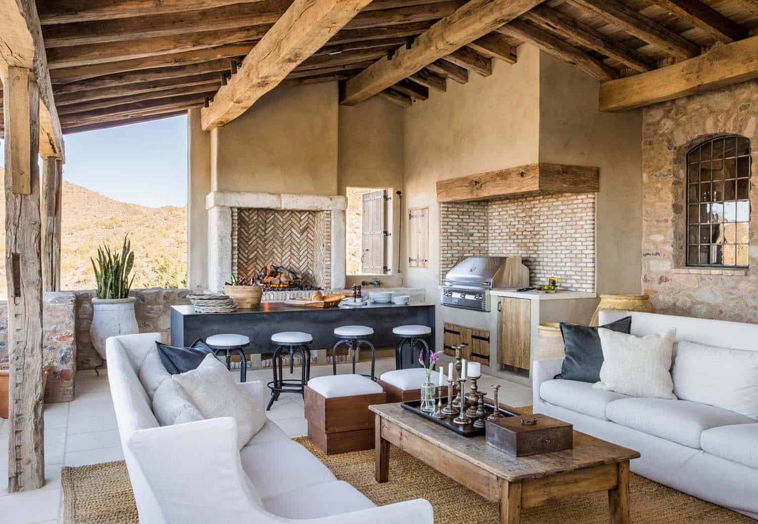 Mediterranean Style Dream Home With Rustic Interiors In