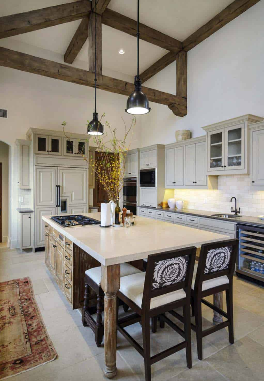 Rustic Mediterranean Style Home Design-08-1 Kindesign