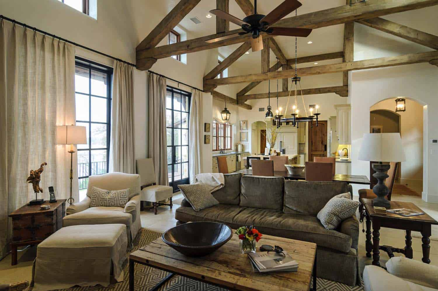 Mediterranean Style Home With Rustic Yet Elegant Interiors