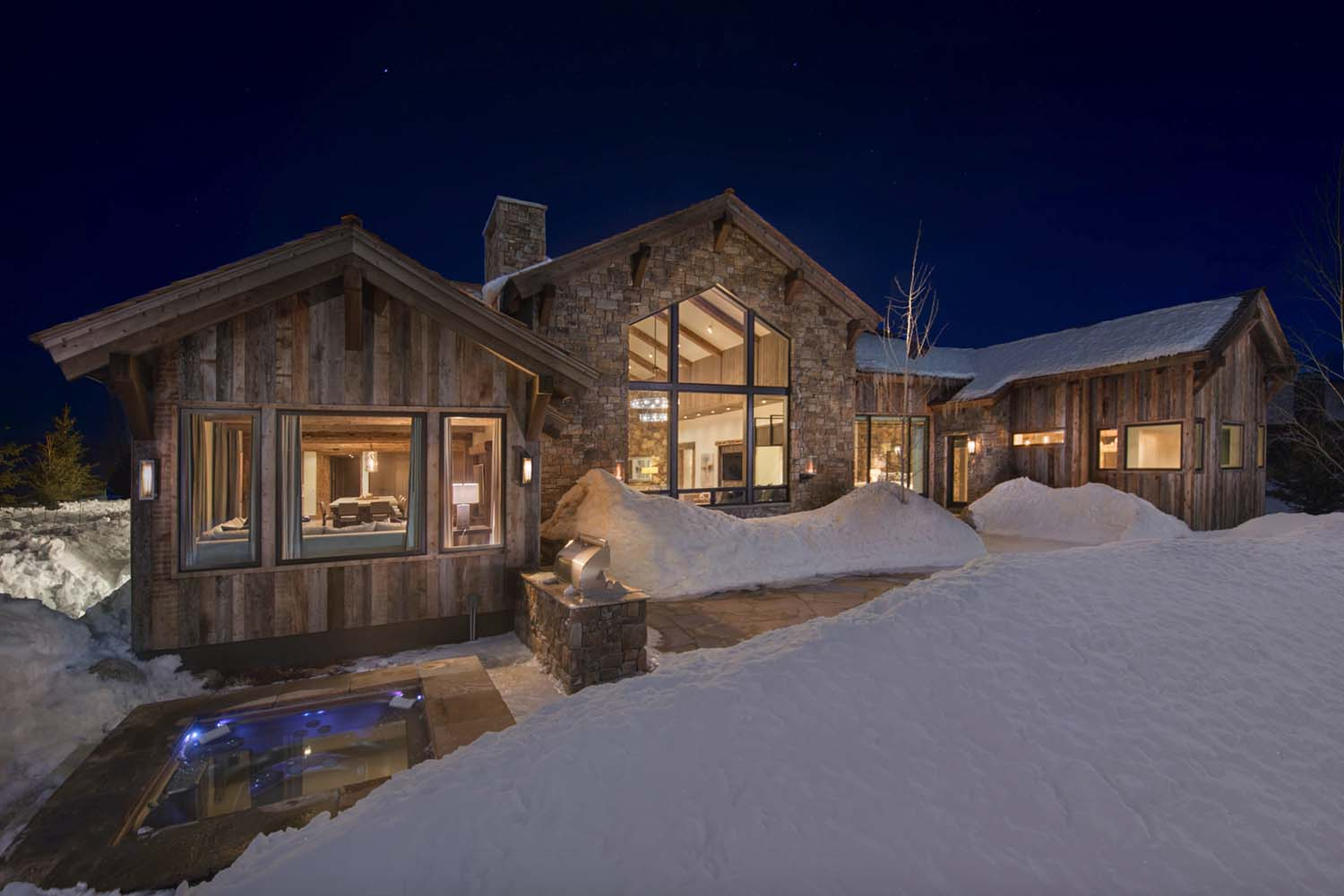 Timber Frame Home Mountain Retreat-27-1 Kindesign
