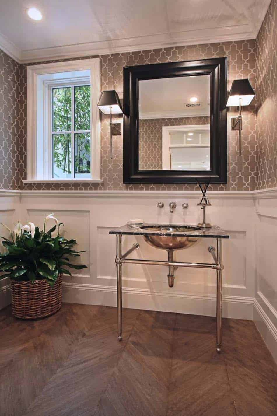 Beach Style Home-Powder Room