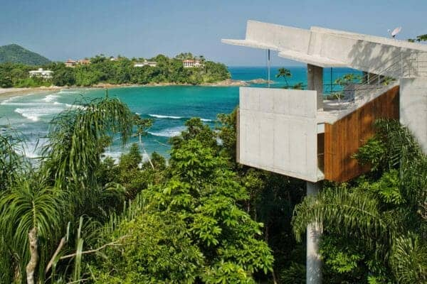 featured posts image for Modern tree house floats above the breathtaking Brazilian coastline