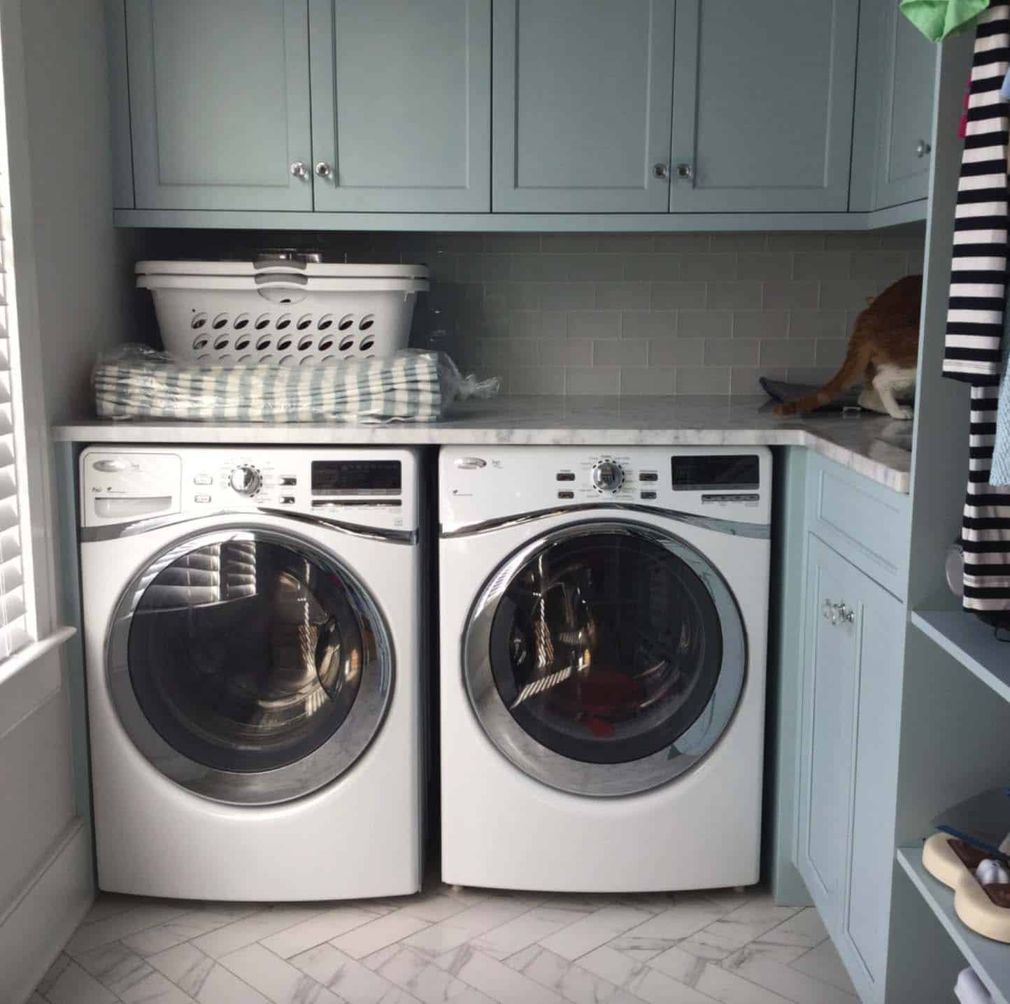Coastal Style Laundry Room
