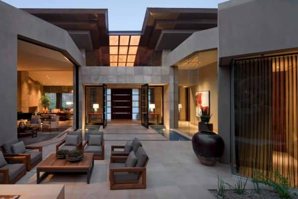 featured posts image for Modern desert home set on a rocky hillside with spectacular city views
