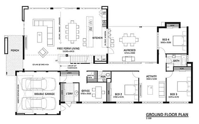 Contemporary Family Home-The Rural Building Company-Floor Plan