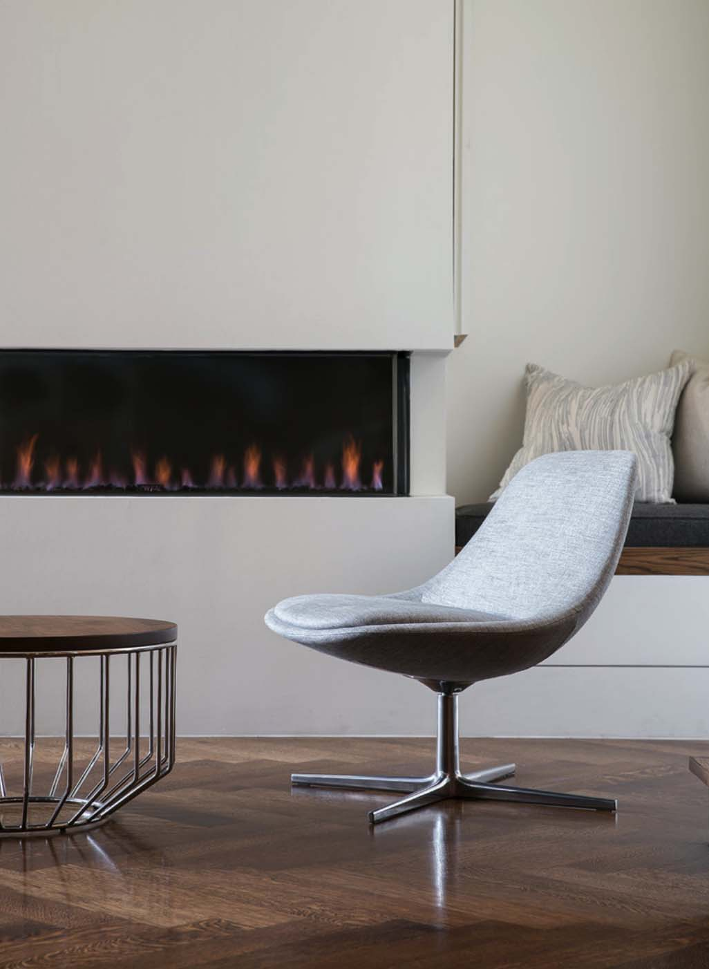 Contemporary Home Design-Fireplace