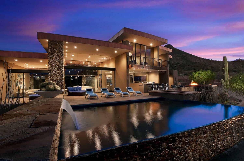 spectacular design dream home. southwestern pool Spectacular contemporary dream home immersed in the Arizona desert