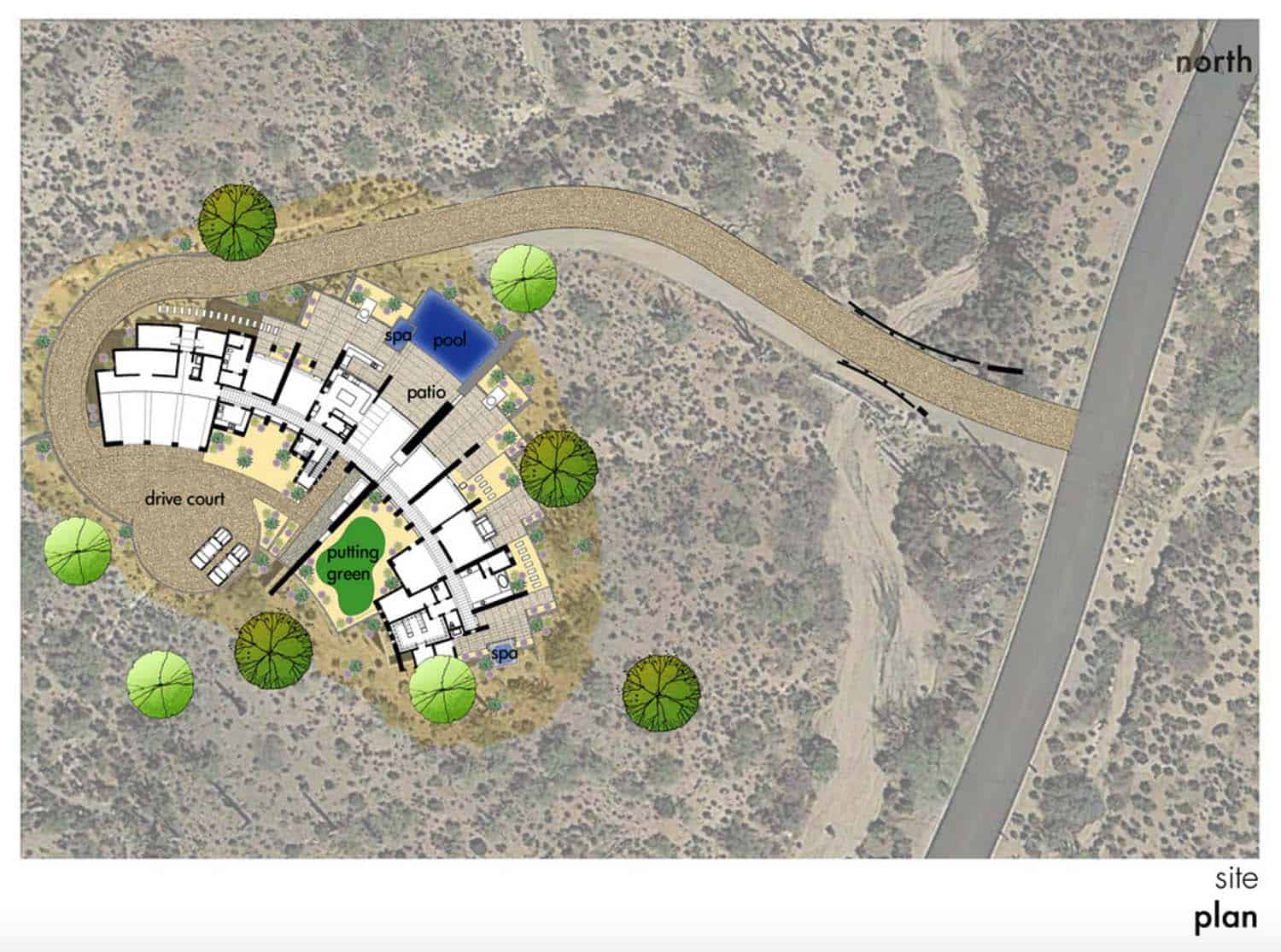 southwestern site and landscape plan