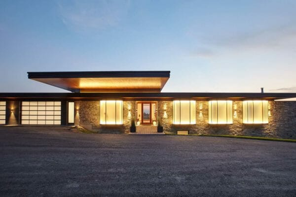 featured posts image for Modern country house cantilevers over a rolling landscape in Ontario