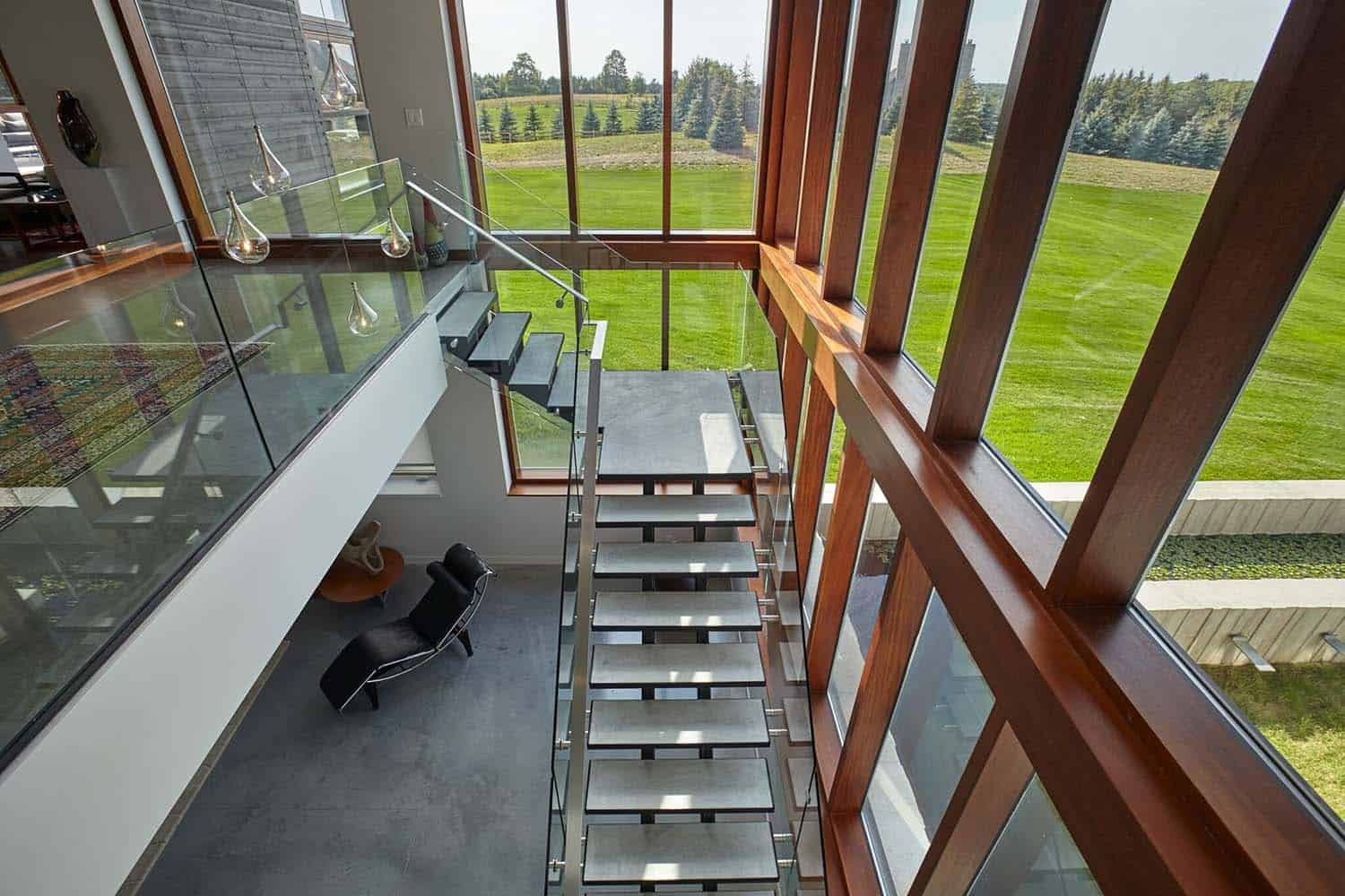 Modern Rural Country House-Staircase