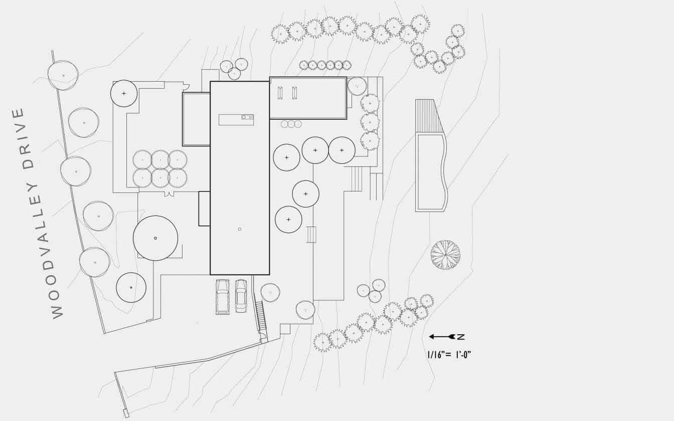 Contemporary Home-Site Plan