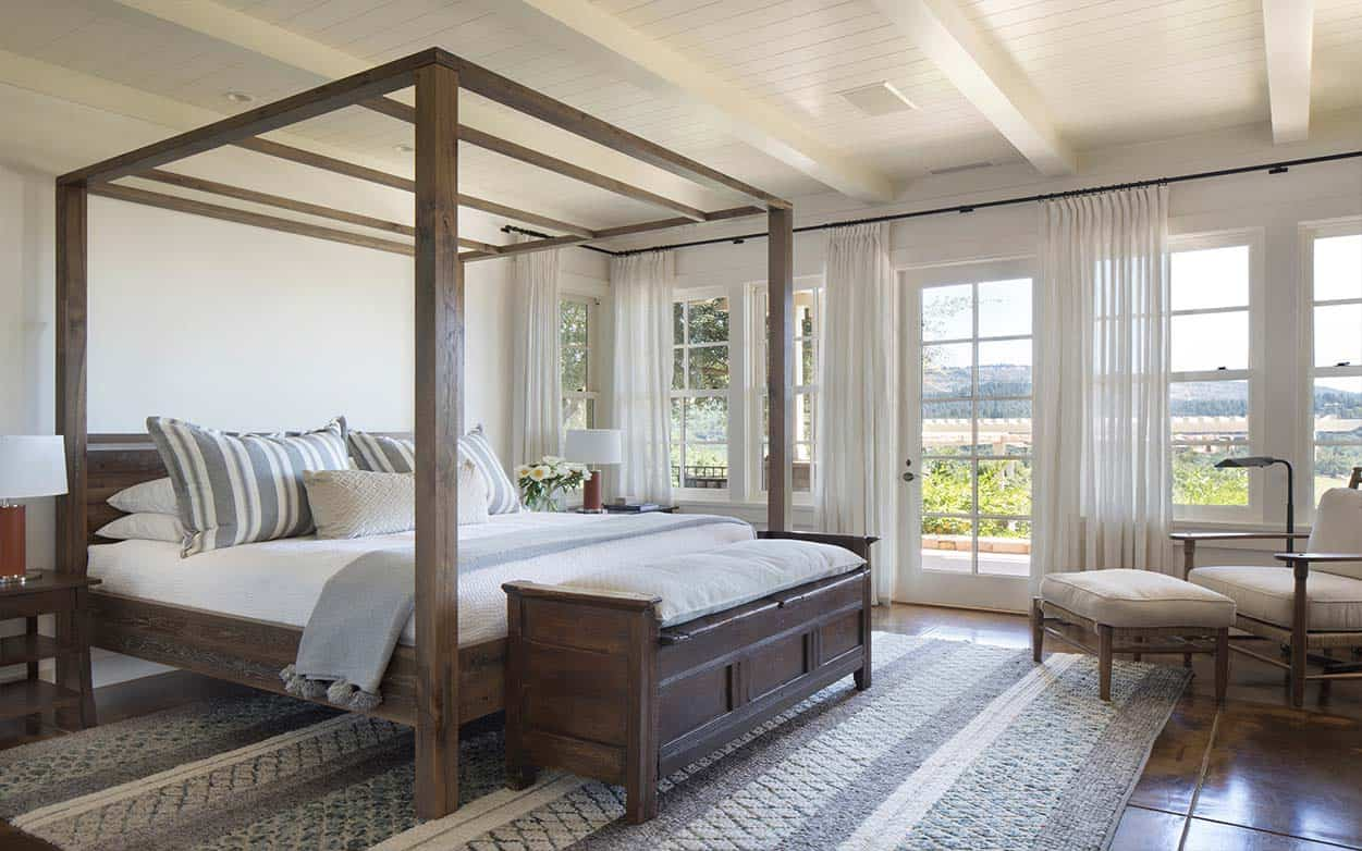 Dreamy remodel of a contemporary rural home in california for Country style bedroom suites