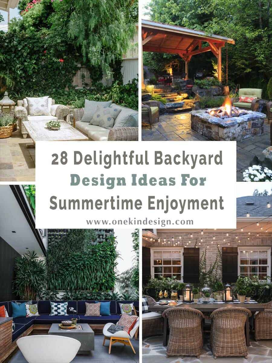 28 Delightful backyard design ideas for summertime inspiration