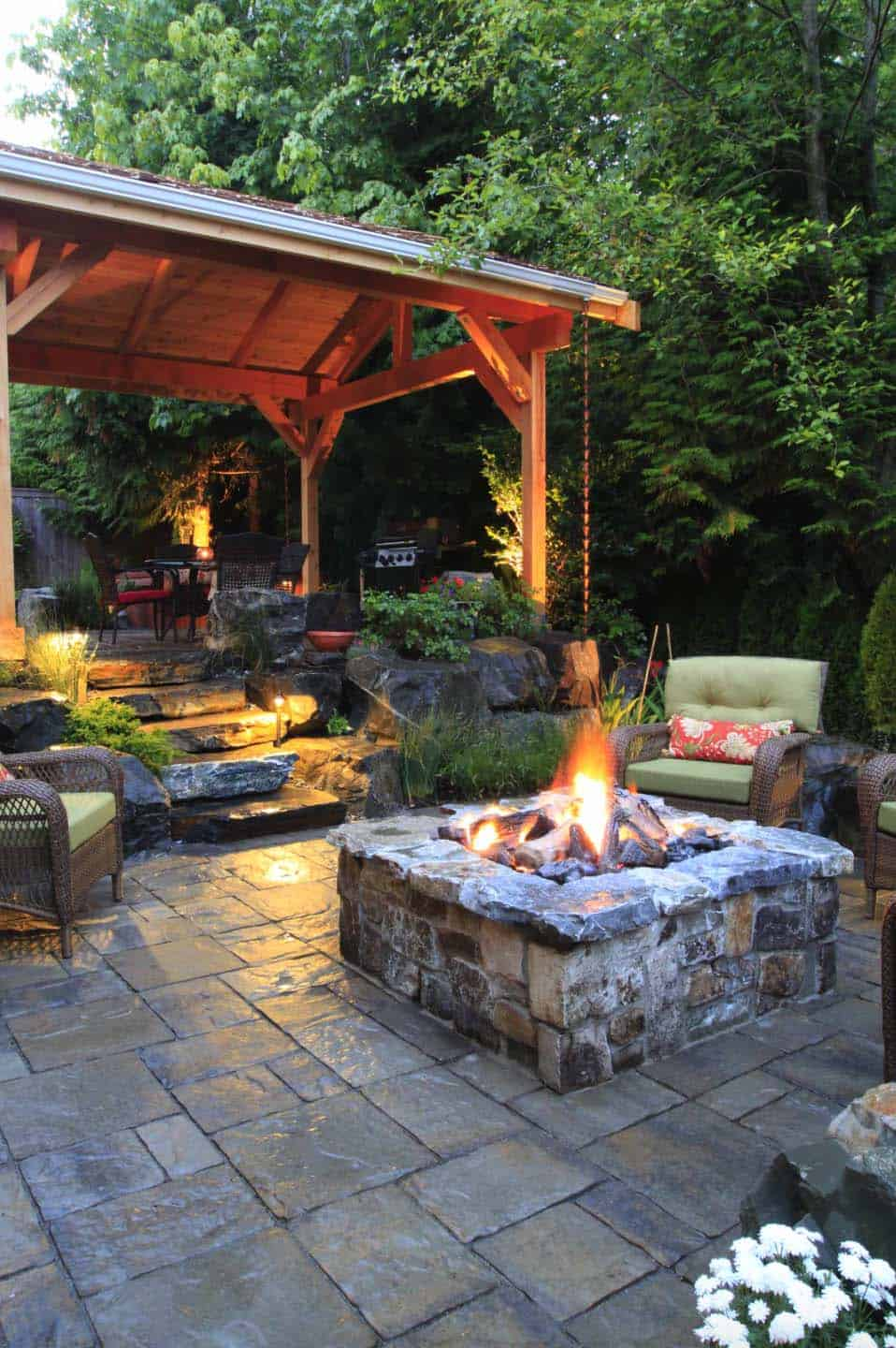 Outdoor patio design