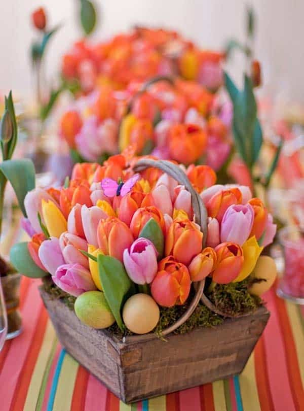 How To Decorate Your Home With Spring Flower Arrangements-22-1 Kindesign
