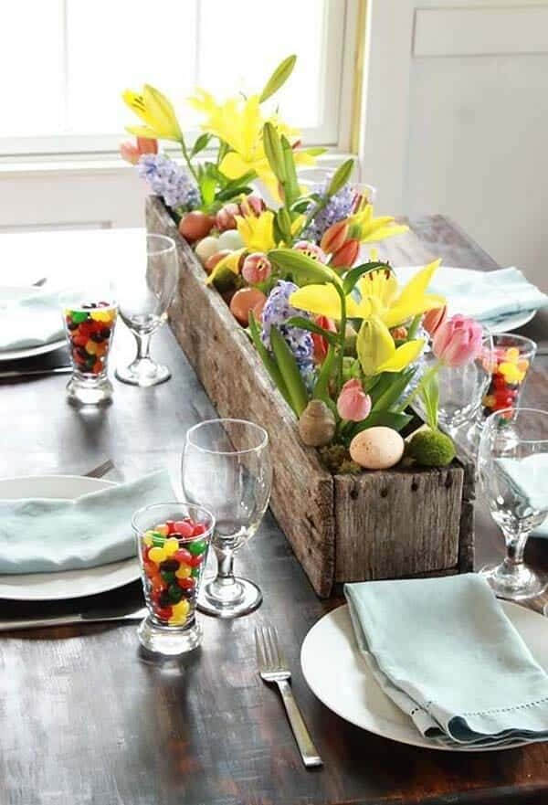 Inspiring Easter Table Centerpiece Ideas-07-1 Kindesign
