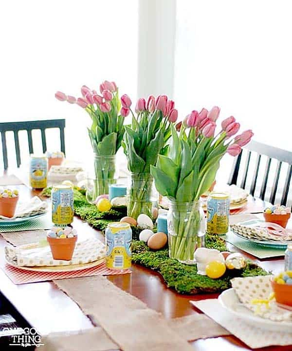 Inspiring Easter Table Centerpiece Ideas-05-1 Kindesign