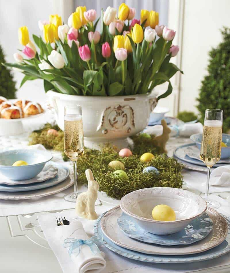 32 Incredibly Stylish And Inspiring Easter Table Centerpiece Ideas