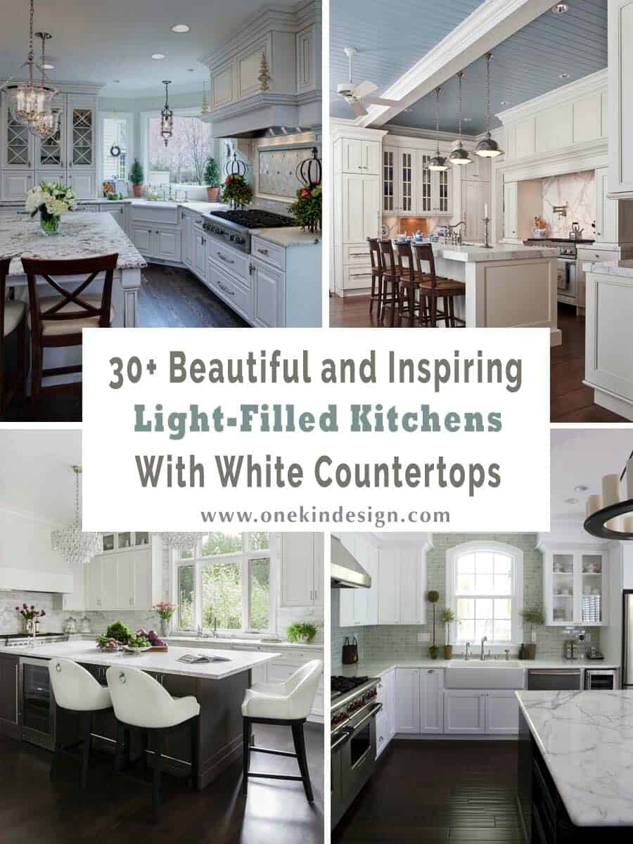 30+ Beautiful and inspiring light-filled kitchens with white ...