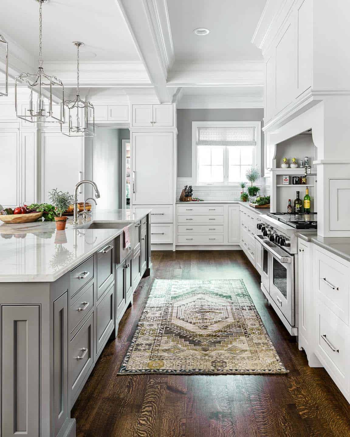 White Kitchen Cabinets With Gray Countertops: One Kindesign