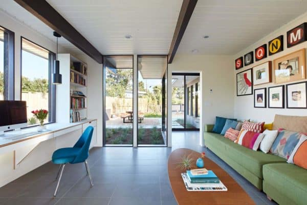 featured posts image for Redesigned Eichler home in California is full of transparency and light