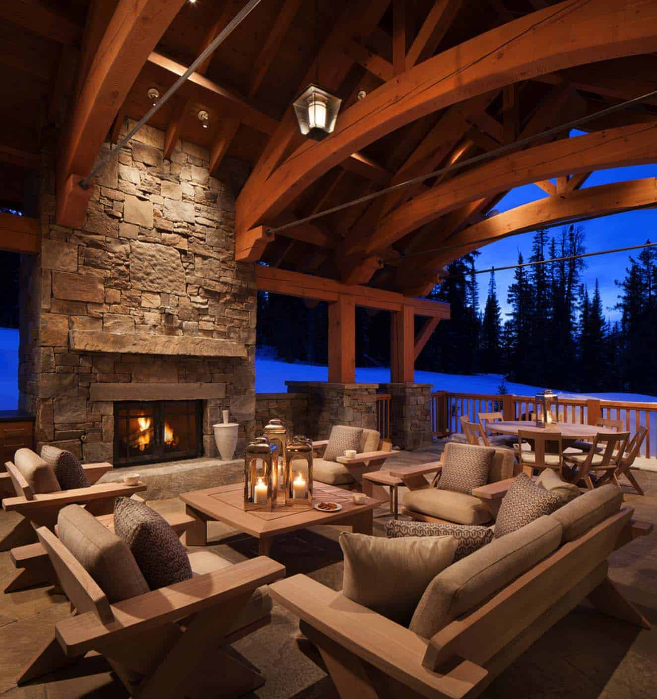 Mountain Retreat In Big Sky Country Showcases Bright, Bold