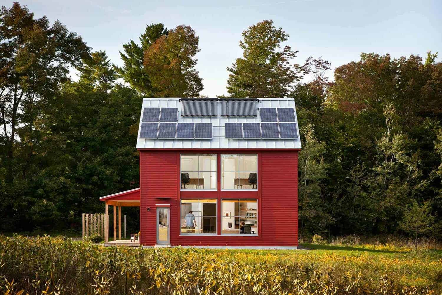 Off the grid a compact passive house design in maine for Maine house plans
