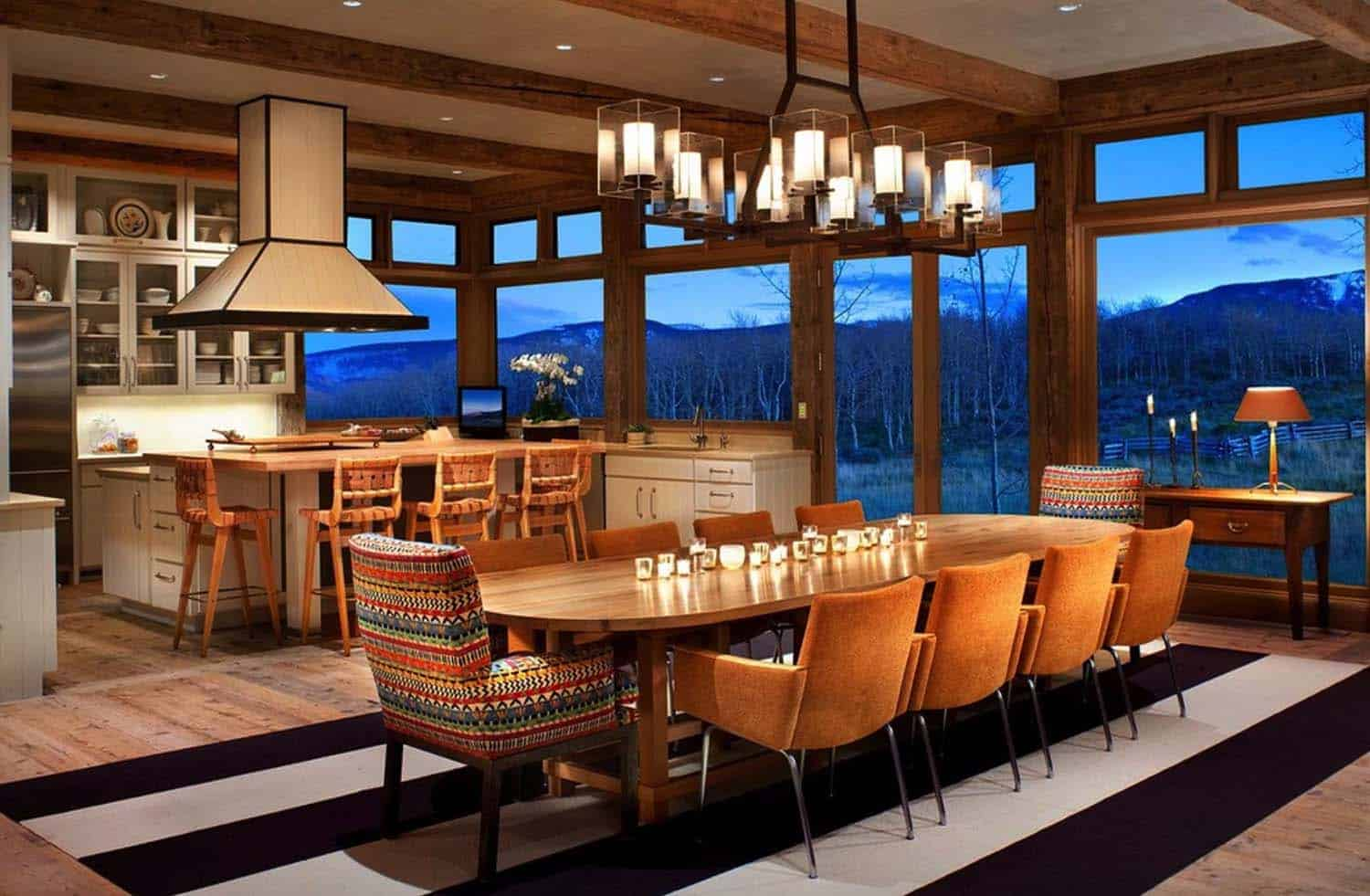 Rustic Lakeside Retreat-Dining Room