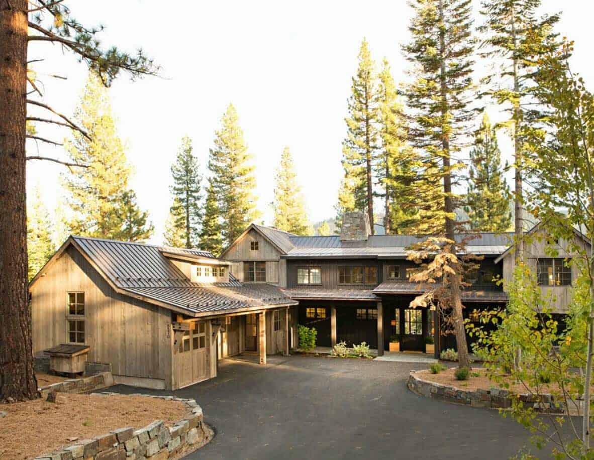 rustic mountain home exterior