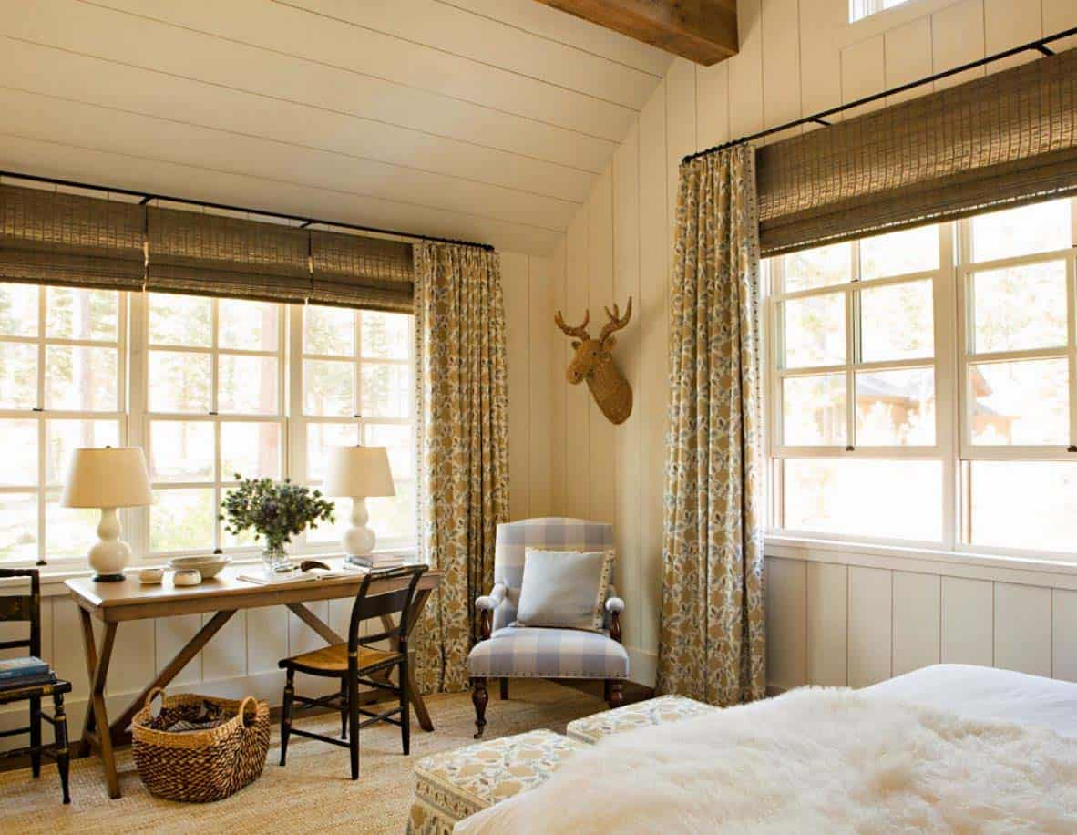 rustic mountain home bedroom
