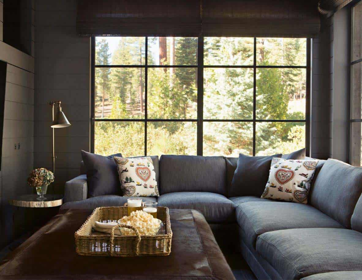 rustic mountain home family room
