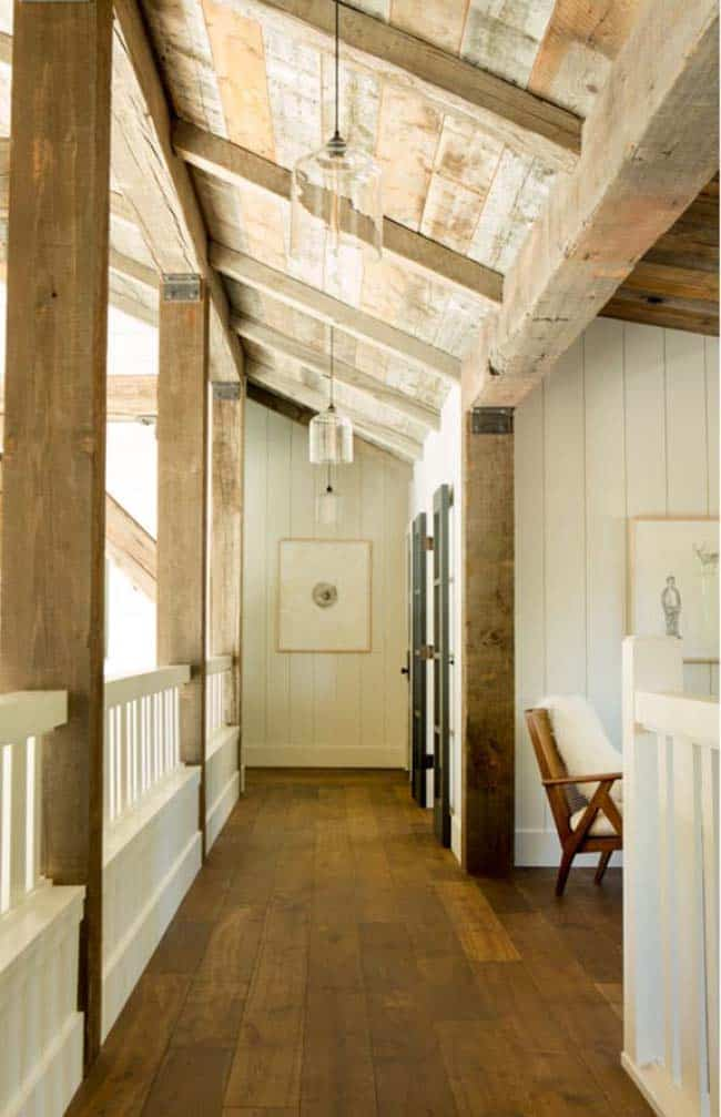 rustic mountain home hallway
