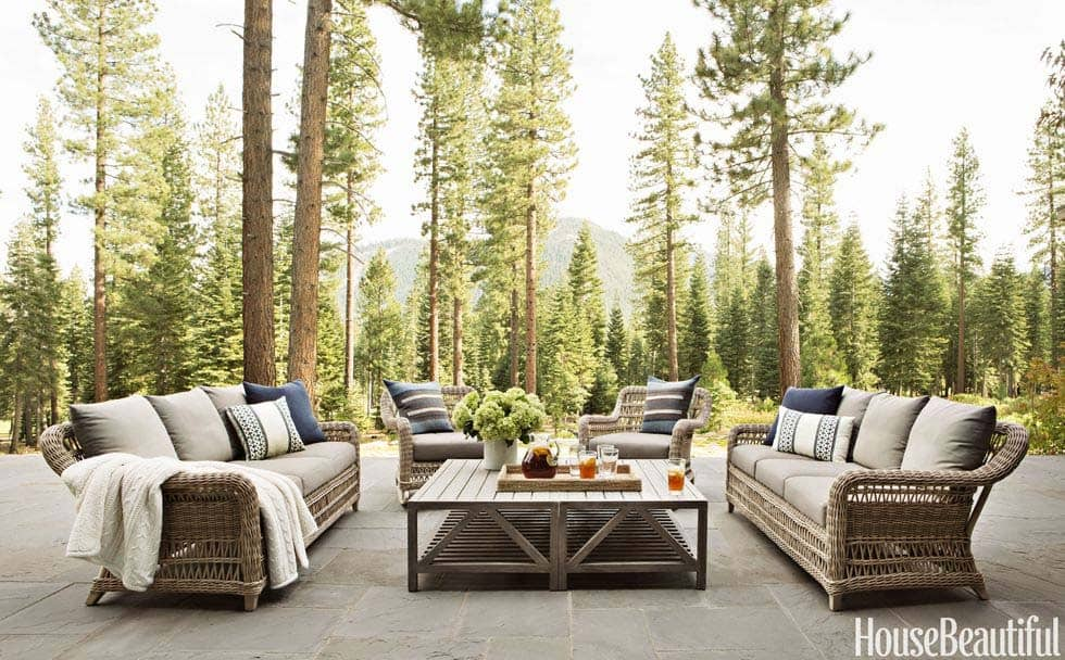 rustic mountain home patio