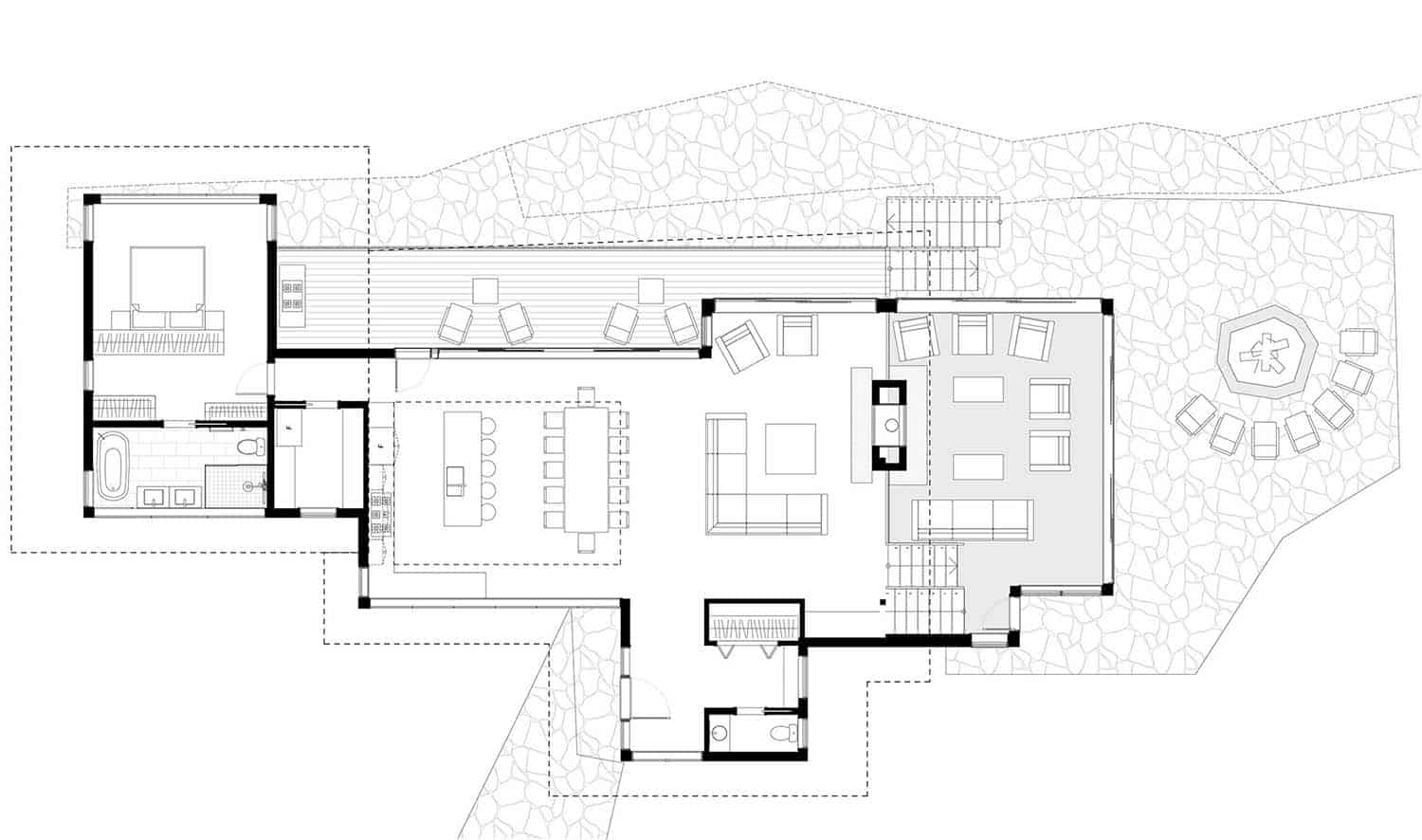 Stanley Bay Contemporary Cottage-Trevor McIvor Architect-Main Floor Plan