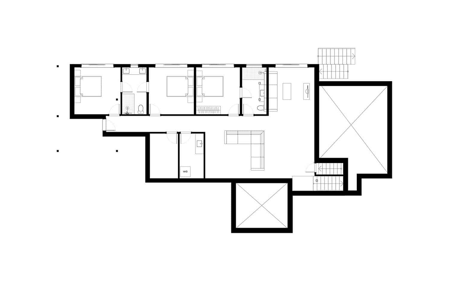 Stanley Bay Contemporary Cottage-Trevor McIvor Architect-Lower Level Floor Plan