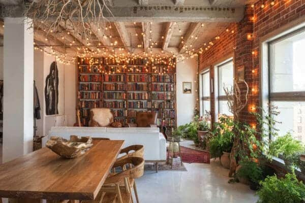 featured posts image for Small book-filled loft in downtown Los Angeles offers a magical aesthetic