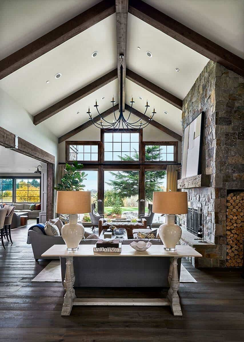 Rustic Design Ideas: Contemporary Rustic Farmhouse With Stunning Living Spaces